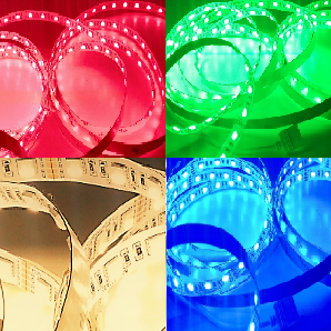 GERLED® Professional indoor LED strip 300 SMD 5050 1 m RGBW - RGB + WARM WHITE