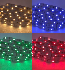 GERLED® Professional indoor LED strip 150 SMD 5050 1 m RGBW - RGB + COLD WHITE