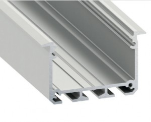 Architectural LED Profile INSO silver anodized 1m