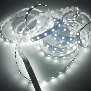 Economic indoor LED strip 300 SMD 5050 1m COLD WHITE
